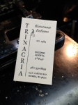 Business cards for Trinacria, my favorite Olympia restaurant. I also designed and printed their gift certificate and new menus. Soon the wine list!