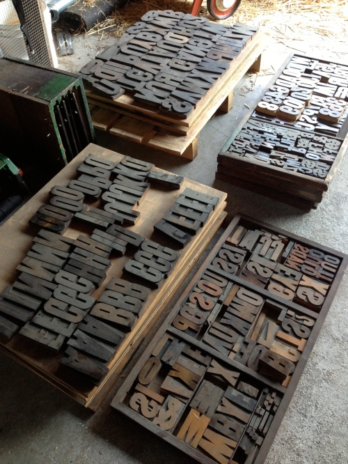 Wood Type from the Centralia Printing Company