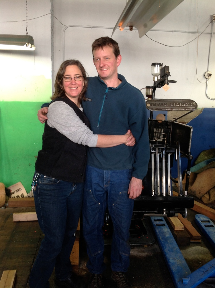 Jami and Terry on press moving day!