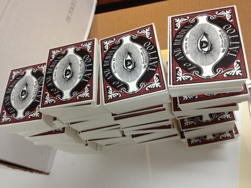 Fat stacks of cards for Tattoo artist Lexi Rex