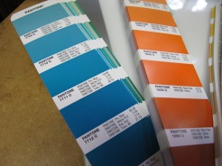 PMS Swatch book.