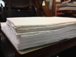 The paper is accumulating!