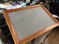 Beautiful new 12 x 18 mould and deckle.