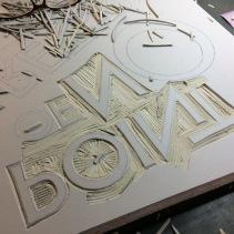 Cutting linoleum is such a blast.