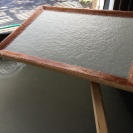 New 12 x 18 mould and deckle from Dr. Mould and Mr. Deckle.