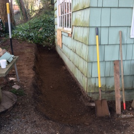It all started with digging out the foundation.
