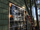 The new window being fitted.